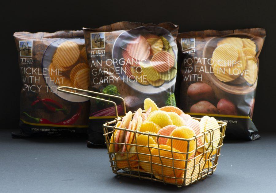 חטיף ציפס אורגני אפוי מתפוחי אדמה- השדה מוצרים אורגניים. צילום הדס ניצן.