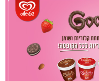 20% הנחה על גלידת גודיז